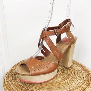 Dolce Vita Crisscross Ankle Strap Platform Heels